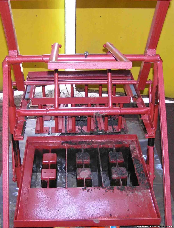 Чертежи самодельного станка для производства шлакоблока 1